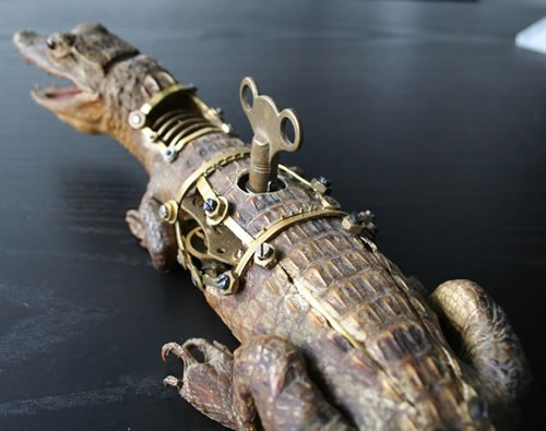 Steampunk Taxidermy - gator