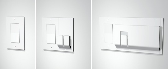 Switchplate with Added Hooks and Clips