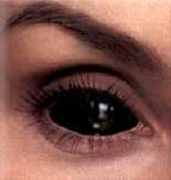 black optometrist specialized theme contacts halloween party glowed dark Black Contact lenses