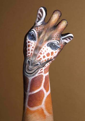 Unlike tattoos, body painting is temporary. Lasting for just few hours or