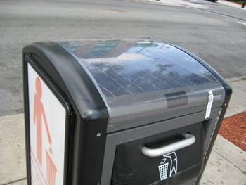Move Over Trash Cans Introducing The Solar Powered Trash