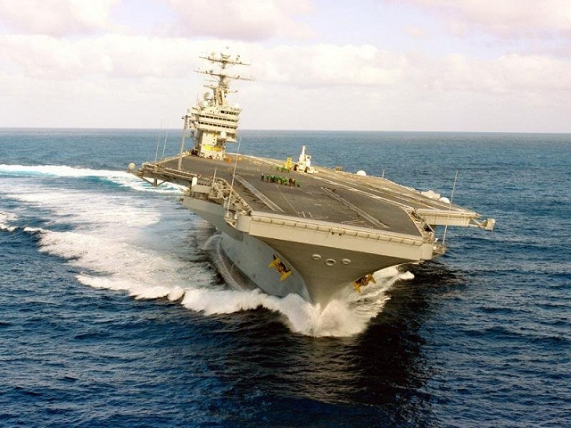 Aircraft Carrier Turning 576