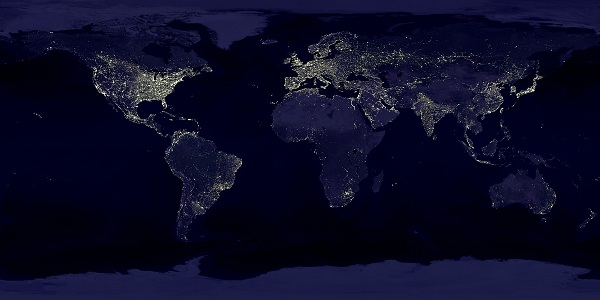 Earths city lights