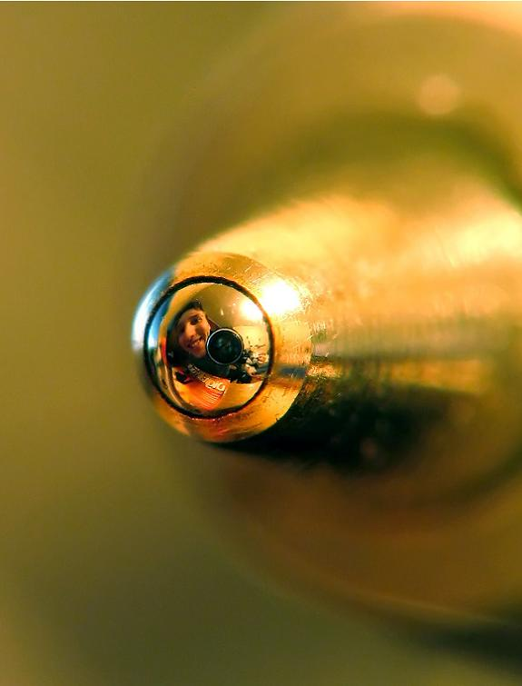 Self-portrait of a macrophotographer in a ball of a ballpoint pen. Simply Amazing 121