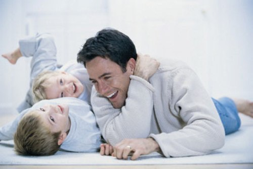 father_children_playing