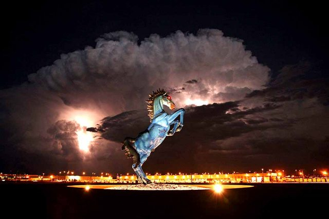 A storm rolls in at the Denver Airport 833