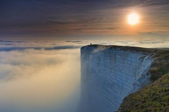 Beachy Head, England. The third most popular suicide site in the world 165
