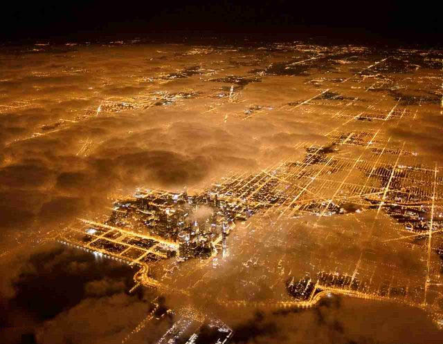 Aerial View of Chicago by Night 733