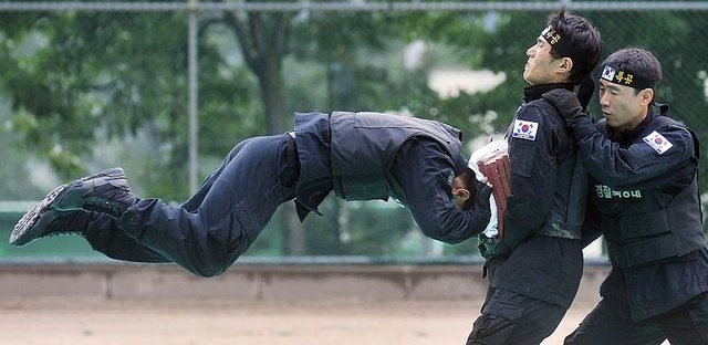South Korean police training 623