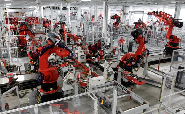 robots in factory
