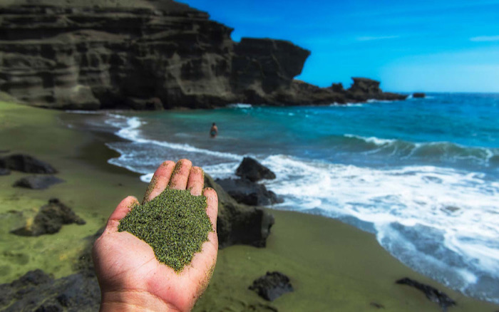 The green sand beach Papakolea, Hawaii