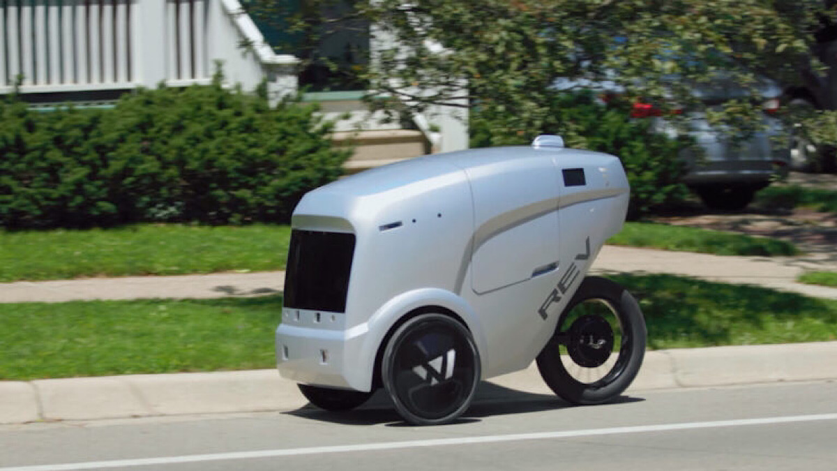 REV-1 robot takes on snow for last-mile delivery