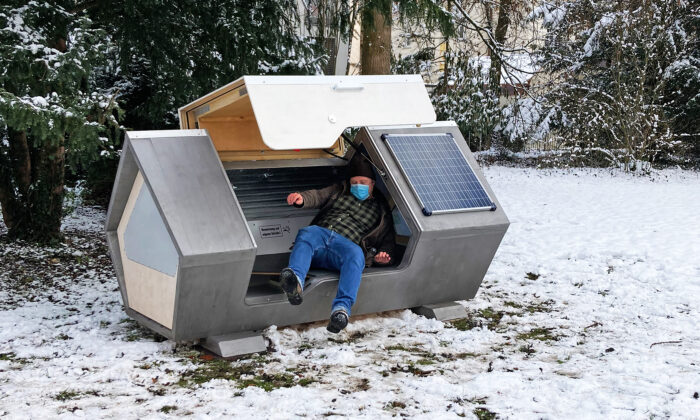 Sleeping Pods Installed in a German City to Protect Homeless People From Freezing Winter
