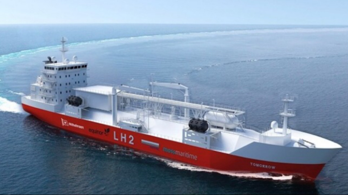 THE WORLD'S FIRST HYDROGEN-POWERED CARGO VESSEL IS ABOUT TO SET SAIL