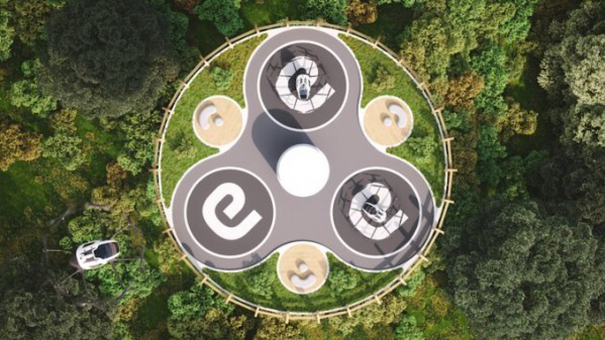 Driverless Air Taxis Could Fly Tourists to Restaurants 100-Feet Above the Ground