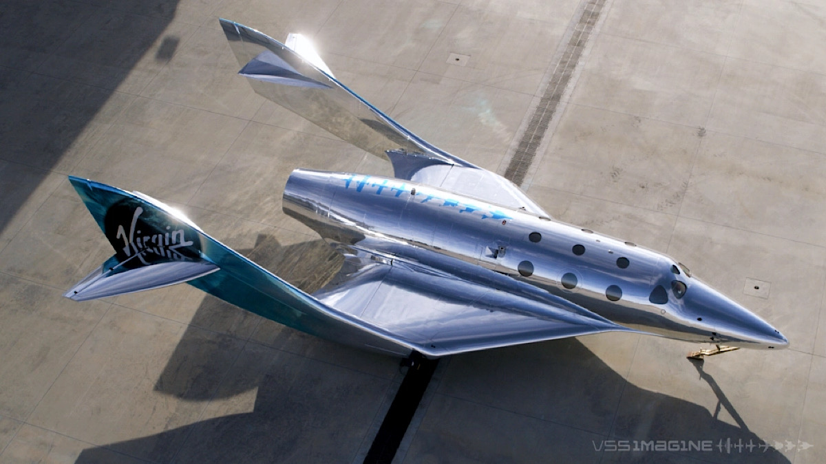 Virgin Galactic debuts its first third-generation spaceship, 'VSS Imagine'