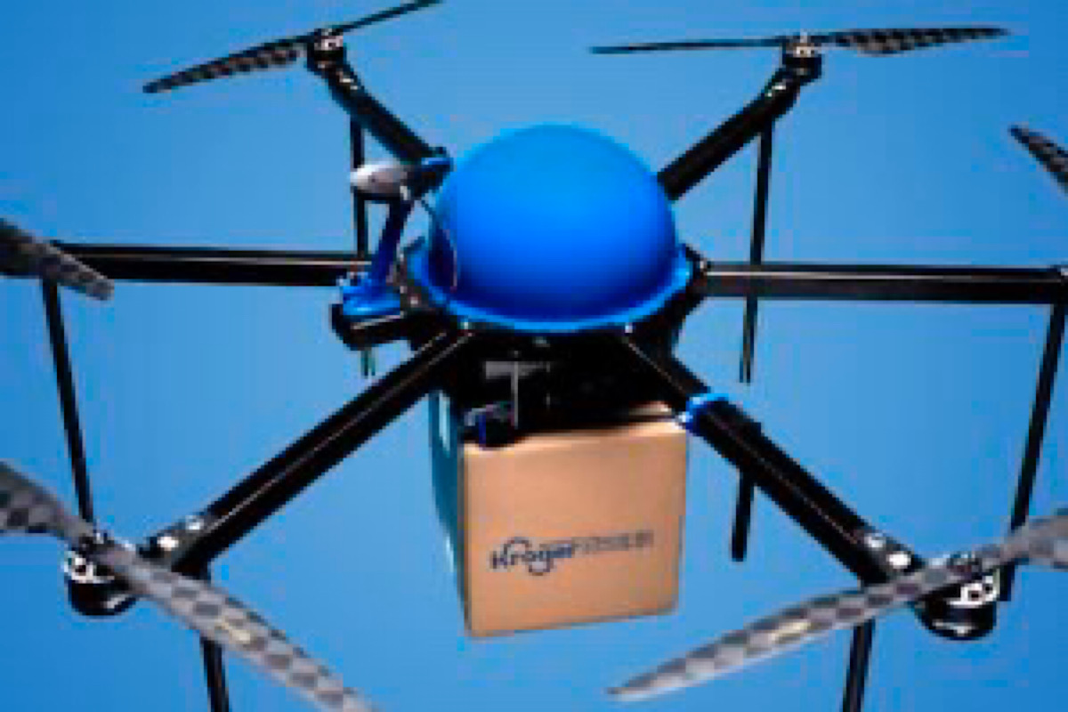 Kroger, Drone Express Begin New Drone Grocery Delivery Program