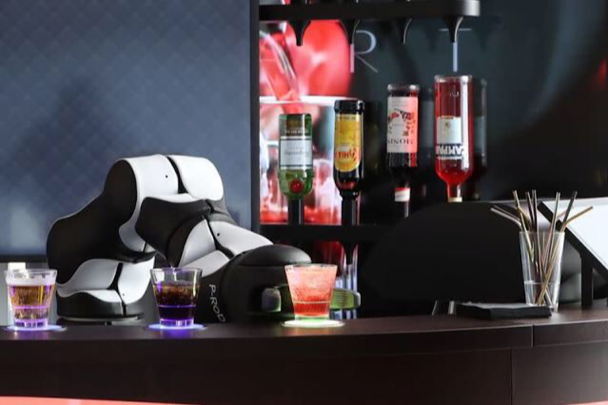 Barney the Swiss robot bartender ready to shake up cocktails