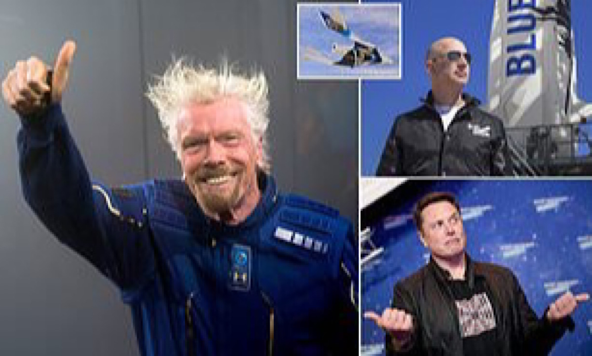 Richard Branson 'could beat Jeff Bezos to space by flying two weeks before Amazon founder'