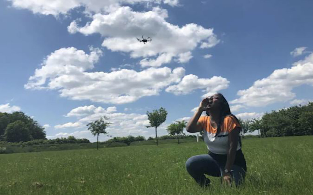 This drone tracks human screams (to save lives)
