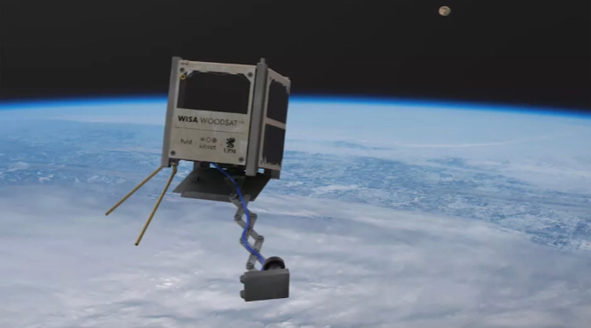 World's first wooden satellite aims to prove plywood can survive space