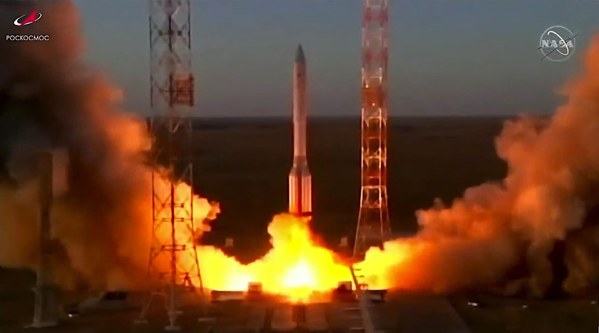 European Robotic Arm is launched into space