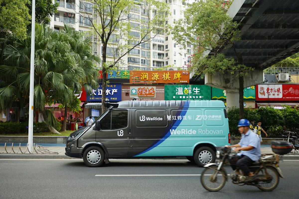 WeRide Launches China's First Level 4 Self-Driving Cargo Van