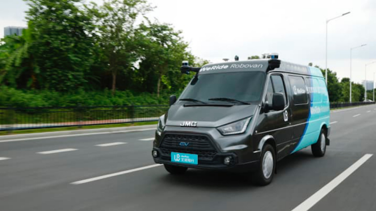 Chinese driverless car firm WeRide launches 'Robovan' for autonomous deliveries