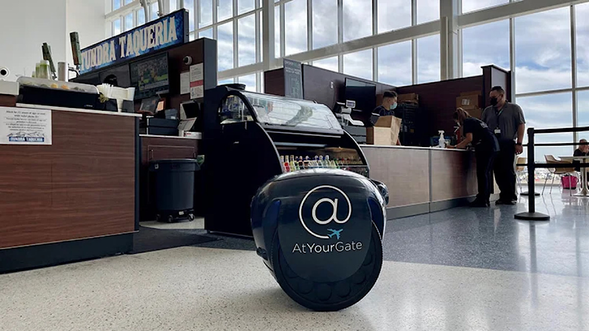 Airports of the future: Your first-hand look at robot mobile food ordering and gate delivery