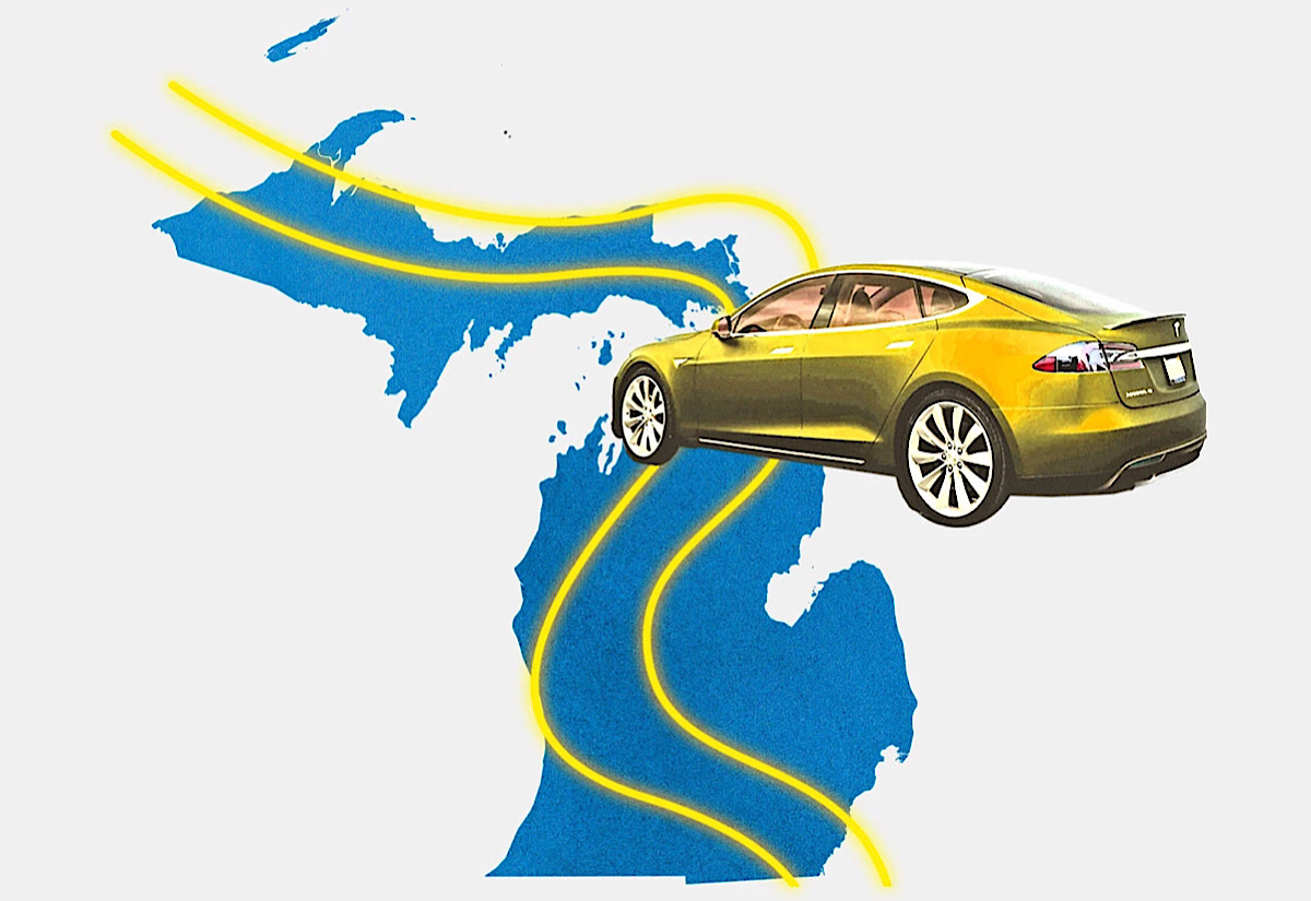Michigan plans to build the country's first wireless EV charging road