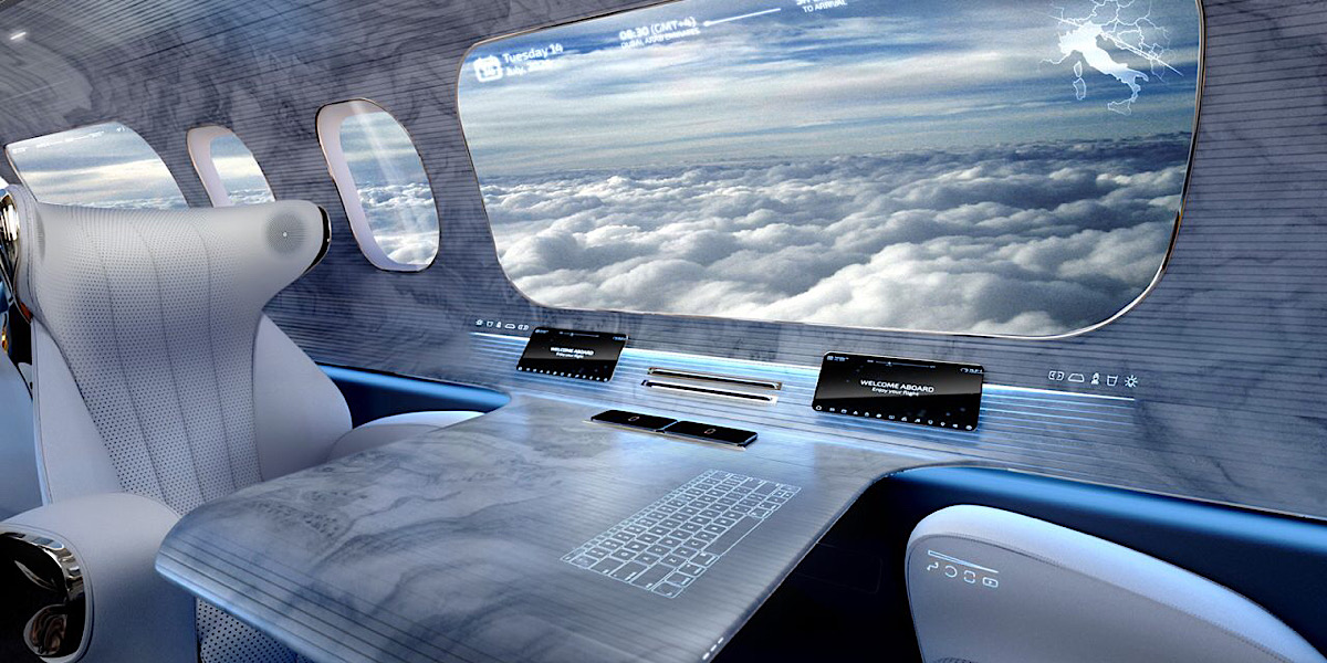 Air travel's future may include virtual cabin windows – take a look